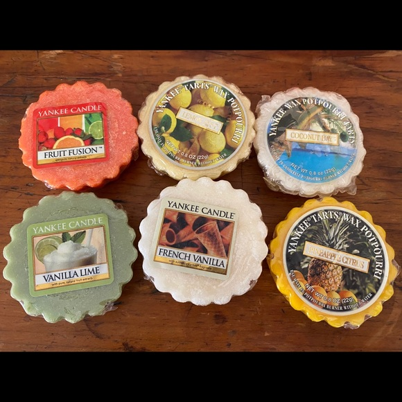 6 assorted Yankee Candle tarts